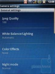 Интерфейс камеры Acer beTouch E110