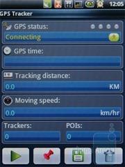 Приложение GPS Tracker в Acer beTouch E110