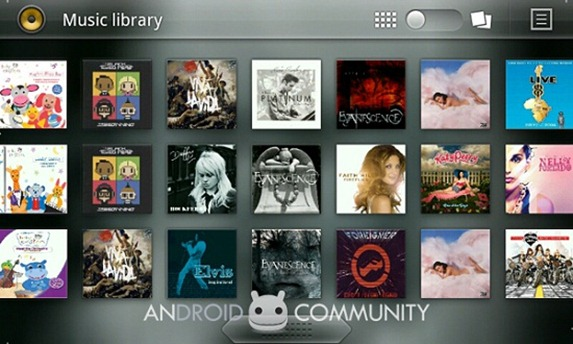Android Honeycomb Music Player