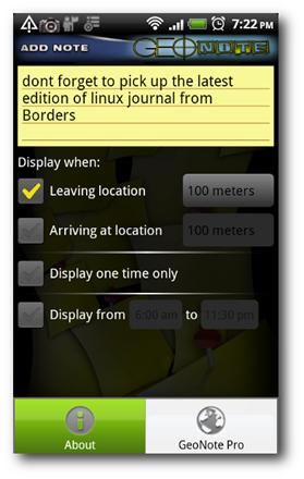 Notes-Screen