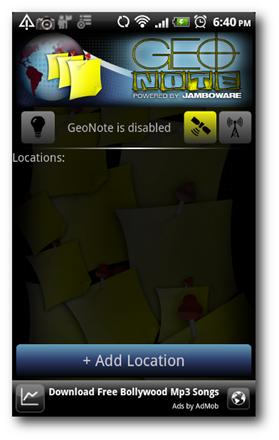 geo-note-main-screen