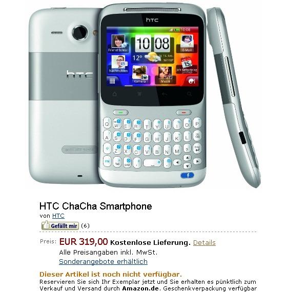 Обзор HTC Cha Cha - смартфон HTC ChaCha для …