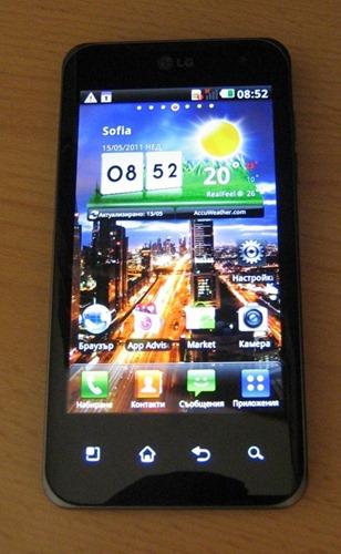 LG Optimus 2X Front