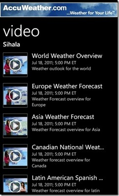 AccuWeather-Videos