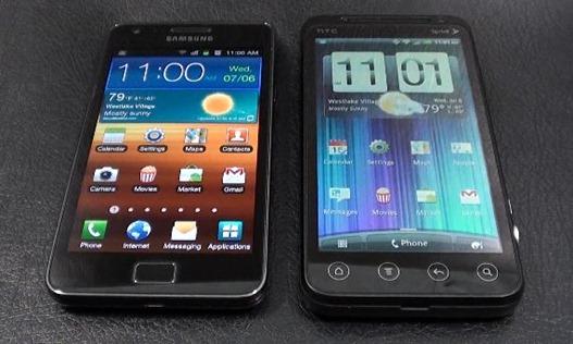 HTC EVO 3D vs. Samsung Galaxy S II