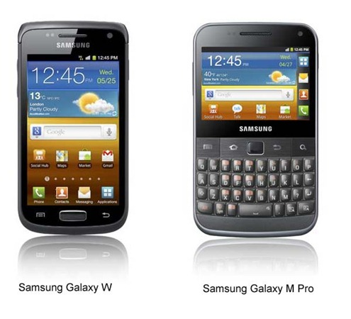 Samsung Galaxy W and M Pro