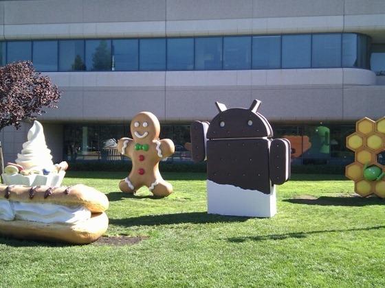 Google Android Ice cream Sandiwch statue