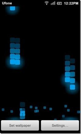 Pixel Rain Blue Black