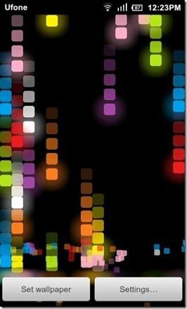 Pixel Rain Color Black