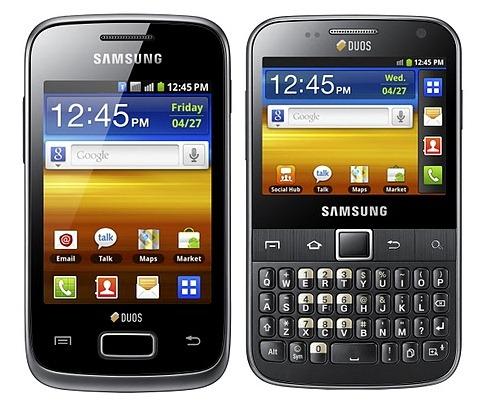 Samsung GALAXY Y Duos and Y Pro Duos