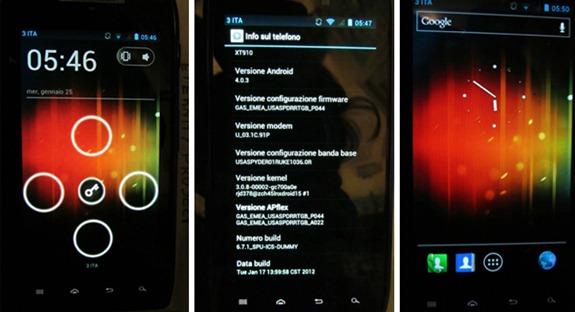 Motorola RAZR Android 4.0