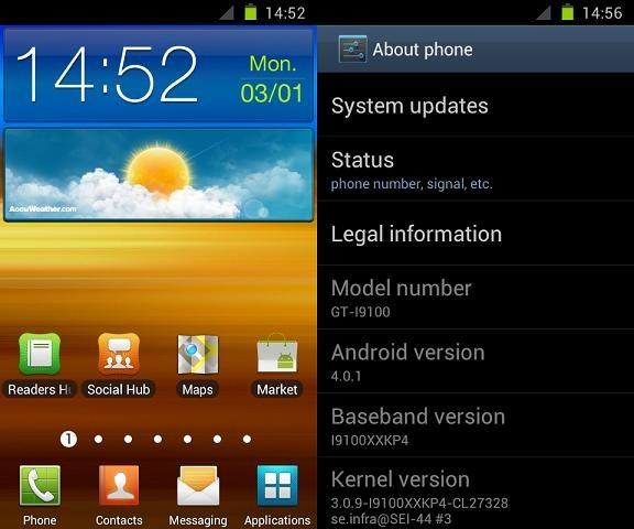 New Galaxy S II Ice Cream Sandwich ROMs