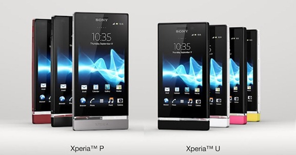Sony XPERIA U and XPERIA P
