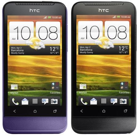 HTC One V  Purple and Black