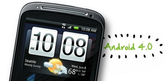 HTC Sensation Android 4.0 update