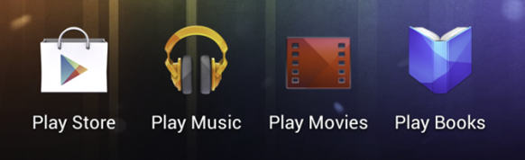 The new Google Play icons