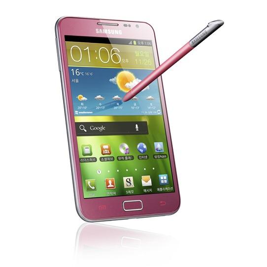 Розовая версия смарфтона Samsung Galaxy Note
