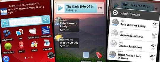 Виджеты для Android