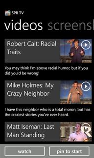 Приложение SPB TV 3.0 для платформы  Windows Phone