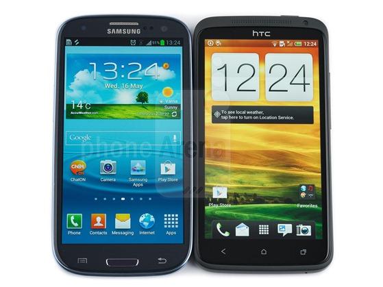 Samsung Galaxy S III против HTC One X